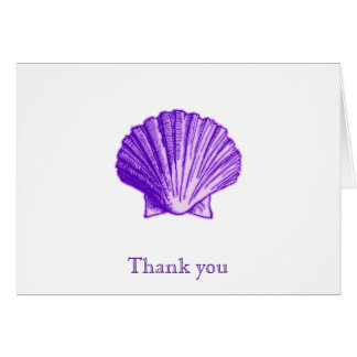 Blue Sea Shell Thank You Note Cards