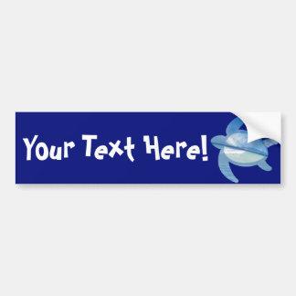Blue Sea Turtle Bumper Sticker