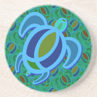 Blue Sea Turtle Coasters