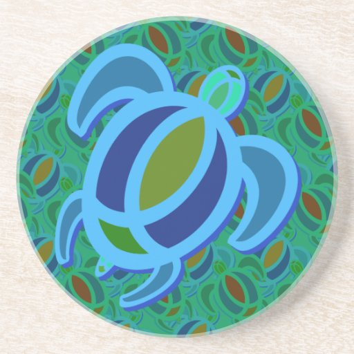 Blue Sea Turtle Coasters