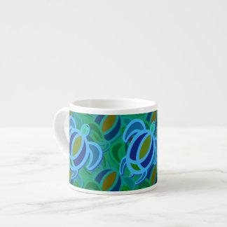 Blue Sea Turtle Espresso Mug 6 Oz Ceramic Espresso Cup