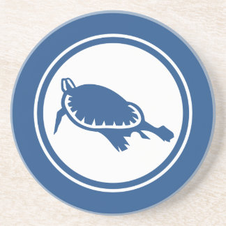 Blue Sea Turtle Marine Creature coaster