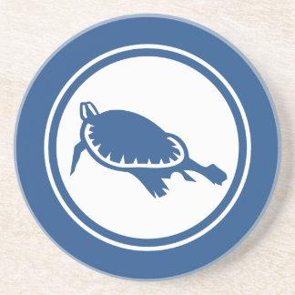 Blue Sea Turtle Marine Creature coaster