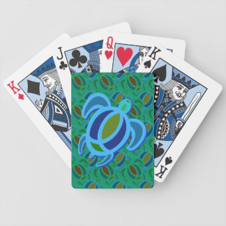Blue Sea Turtle Playing Cards
