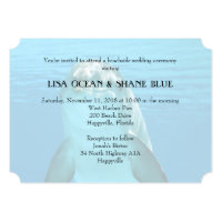 Blue Sea Underwater Dolphin Wedding Invitation