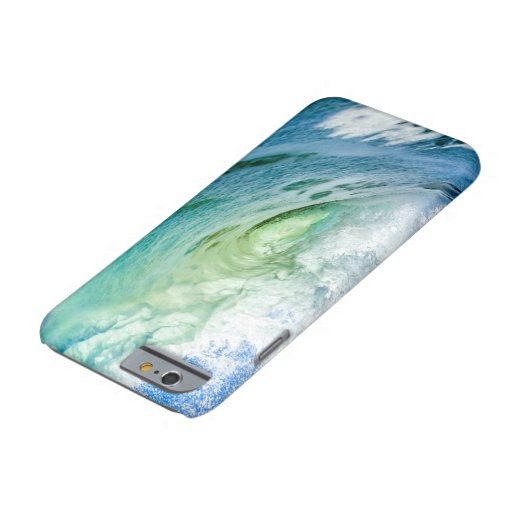 blue sea water watercolor design barely there iPhone 6 case