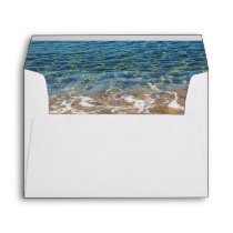 Blue Sea Waves - Beach Water and Sand Envelope
