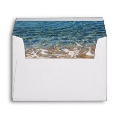 Blue Sea Waves - Beach Water And Sand Envelope at Zazzle