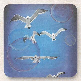 Blue Seagull Beach Coasters