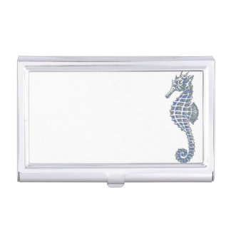 Blue Seahorse Business Card Holders