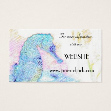 Professional Business Blue Seahorse Business Cards