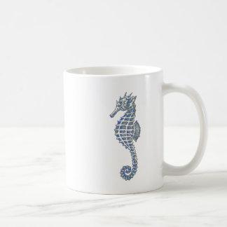 Blue Seahorse Classic White Coffee Mug