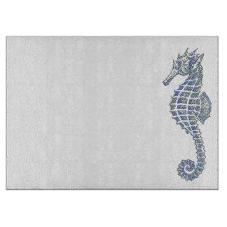 Blue Seahorse Cutting Board