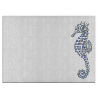 Blue Seahorse Cutting Boards