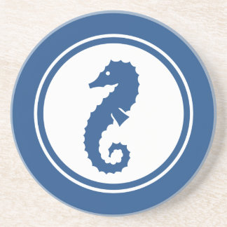 Blue Seahorse Marine Creature coaster