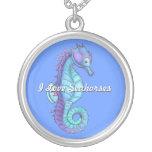 Blue Seahorse Necklace