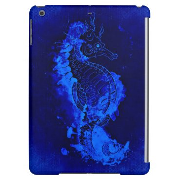 Beach Themed Blue Seahorse Painting Cover For iPad Air