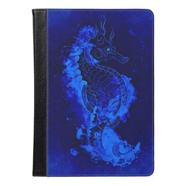Beach Themed Blue Seahorse Painting iPad Air Case