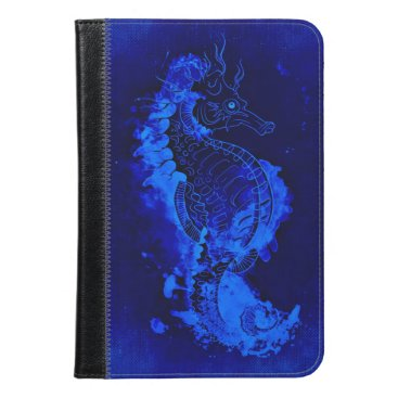 Beach Themed Blue Seahorse Painting iPad Mini Case