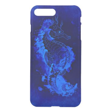 Beach Themed Blue Seahorse Painting iPhone 7 Plus Case