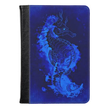 Blue Seahorse Painting Kindle Case