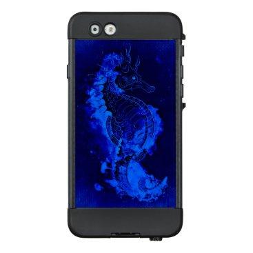 Beach Themed Blue Seahorse Painting LifeProof NÜÜD iPhone 6 Case