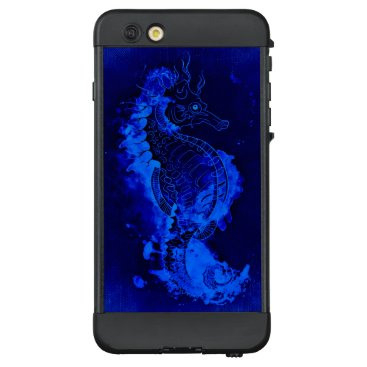 Beach Themed Blue Seahorse Painting LifeProof NÜÜD iPhone 6 Plus Case