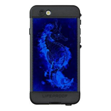 Beach Themed Blue Seahorse Painting LifeProof NÜÜD iPhone 6s Case