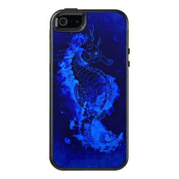 Beach Themed Blue Seahorse Painting OtterBox iPhone 5/5s/SE Case