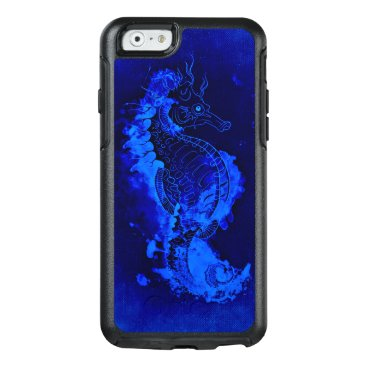Beach Themed Blue Seahorse Painting OtterBox iPhone 6/6s Case