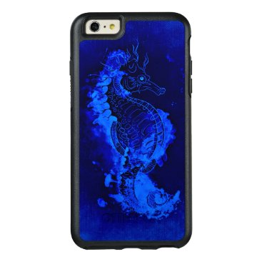 Beach Themed Blue Seahorse Painting OtterBox iPhone 6/6s Plus Case