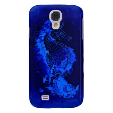 Blue Seahorse Painting Samsung Galaxy S4 Cover