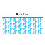 Blue Seahorse Pattern Business Card Templates