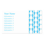 Blue Seahorse Pattern Business Cards