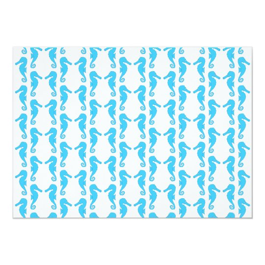 Blue Seahorse Pattern Card