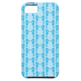 Blue Seahorse Pattern iPhone 5 Covers