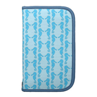 Blue Seahorse Pattern Planners