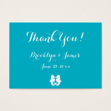 Professional Business Blue Seahorse Wedding Favor Tags Business Cards