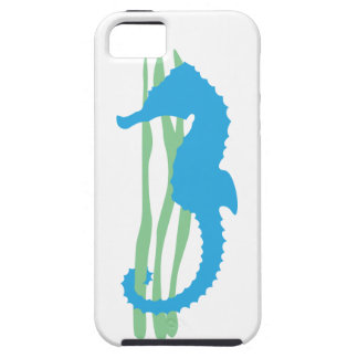 Blue Seahorse with Sea Grass iPhone 5 Cover