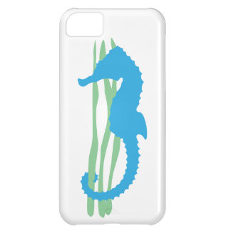Blue Seahorse with Sea Grass iPhone 5C Case
