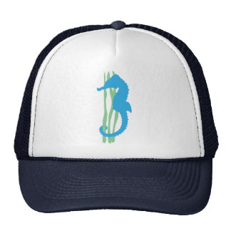 Blue Seahorse with Sea Grass Trucker Hat