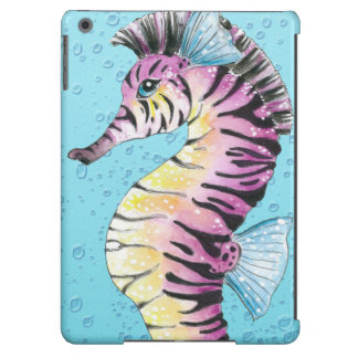 Blue Seahorse Zebra iPad Air Cases