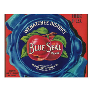 blue seal apples post card