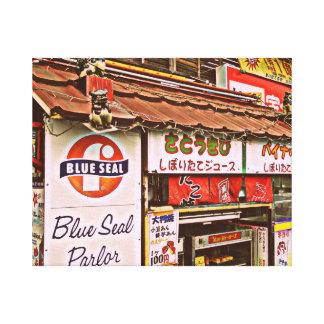 Blue Seal ice cream snack shack Canvas Print