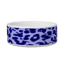 Blue seamless animal skin texture bowl