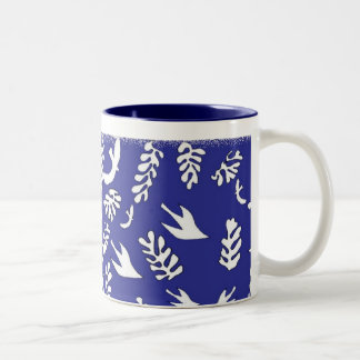 BLUE SEASCAPE Two-Tone COFFEE MUG