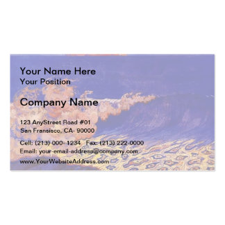 Blue seascape,Wave Effect by Georges Lacombe Business Card Templates