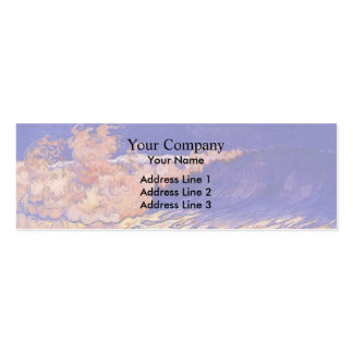 Blue seascape,Wave Effect by Georges Lacombe Business Card Template