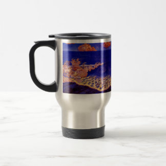 Blue seascape,Wave Effect by Georges Lacombe Mugs