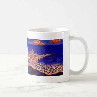 Blue seascape,Wave Effect by Georges Lacombe Coffee Mug